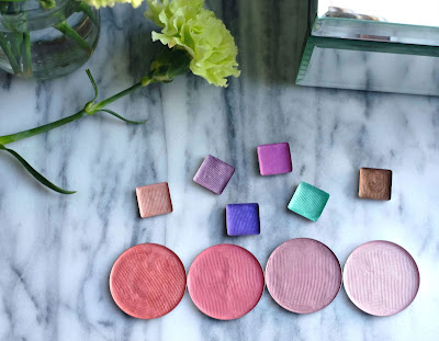 How to press loose eye shadows and blushes