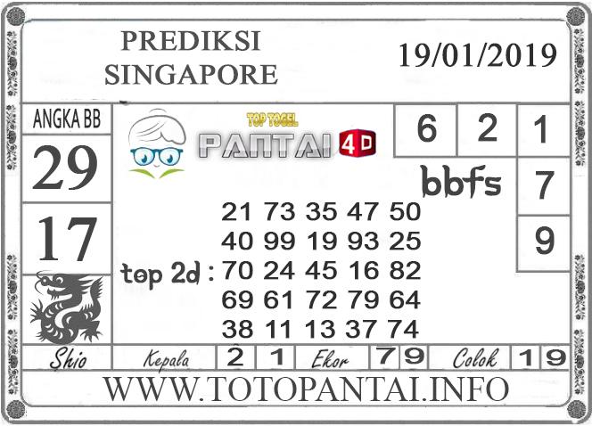 """Prediksi Togel """"SINGAPORE"""" PANTAI4D 19 JANUARI 2019"""