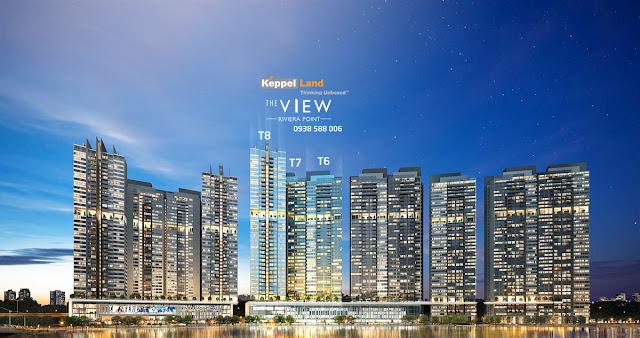 Phối cảnh tổng thể dự án căn hộ The View - Riviera Point quận 7, mở bán tháp 8.
