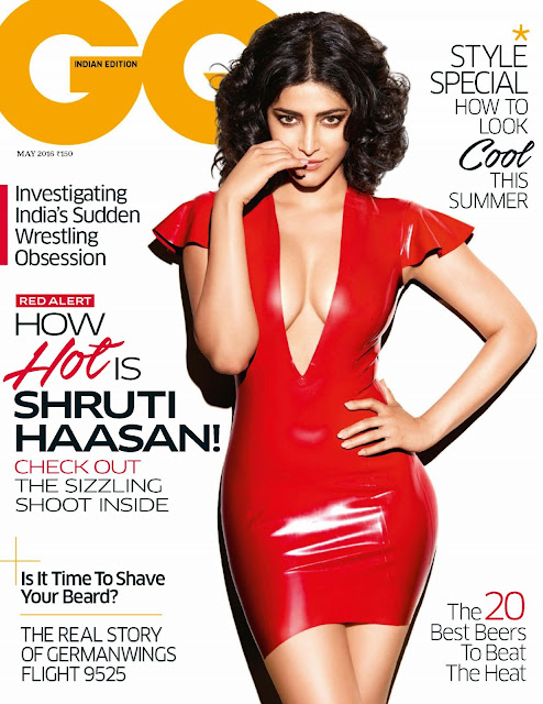 Actress, Singer, @ Sharuti Haasan - GQ Magazine India, May 2016
