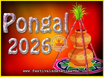 2026 Pongal Festival Date & Time, 2026 Thai Pongal Calendar