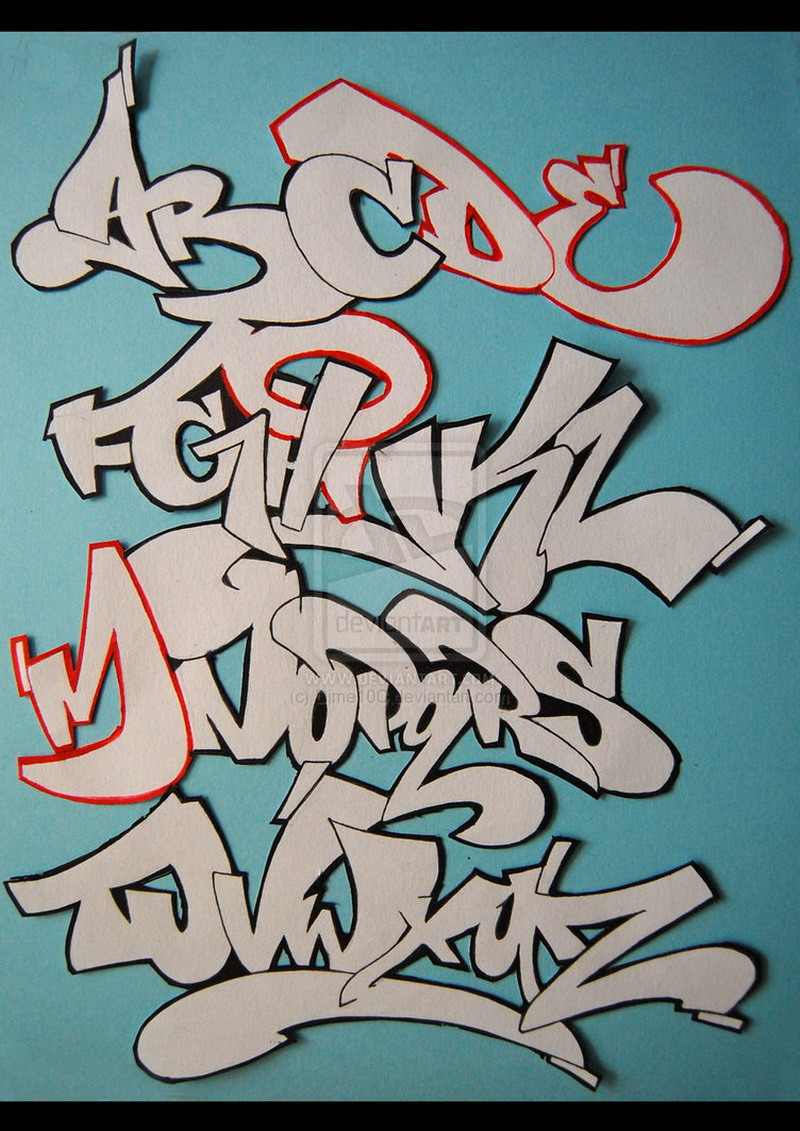 final graffiti alphabet letters graffiti alphabets taken from ...