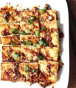pan fried tofu with korean sauce recipe by seasonwithspice.com