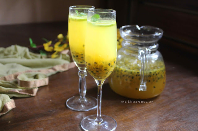 Passion fruit and Orange Squash