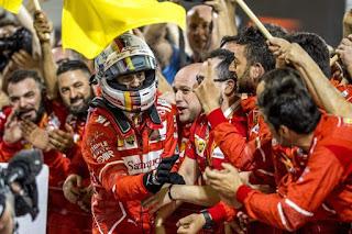 FÓRMULA 1 - Vettel gana en Bahréin y asume el liderato en solitario