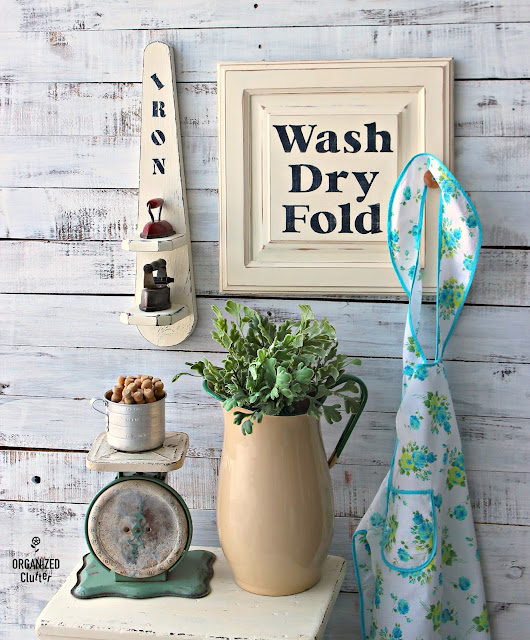 Cabinet Door Re-Purposed Laundry Room Sign #stencil #repurpose #Laundryroomdecor