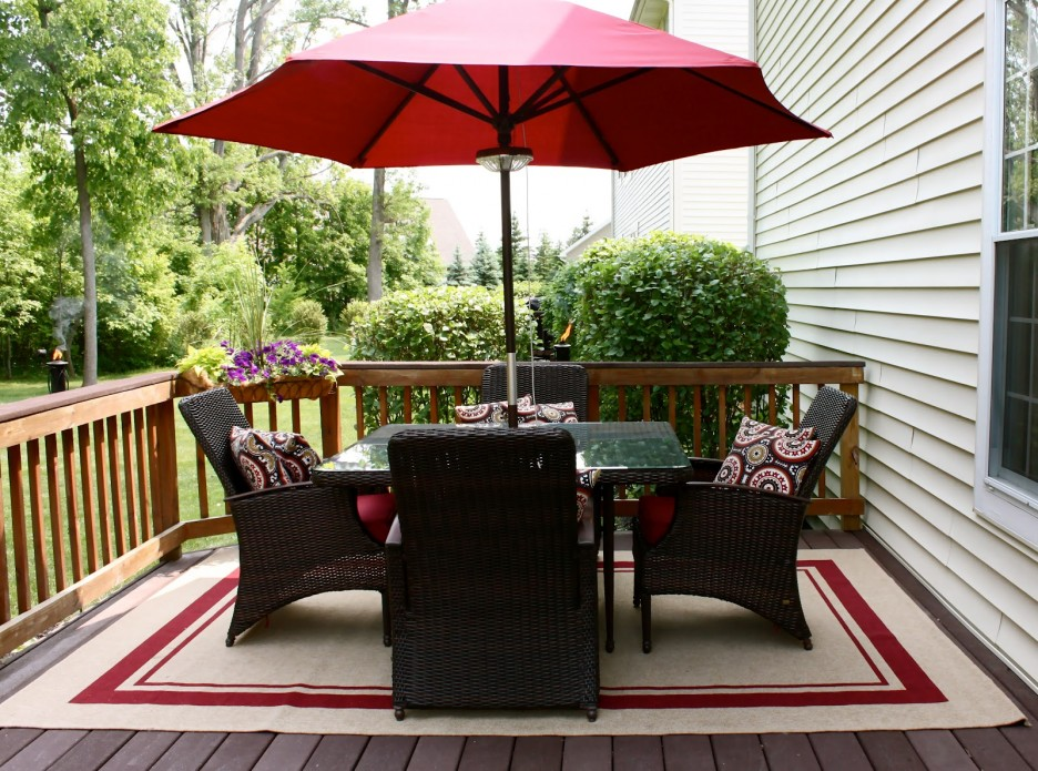 Delightful Pottery Barn Patio Plus Decorative Topiary Also Black Outdoor  Chairs And Area Rug
