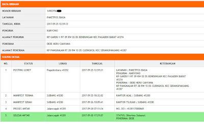 Data Kiriman Benih Padi TRISAKTI untuk   Dede Heru Subang