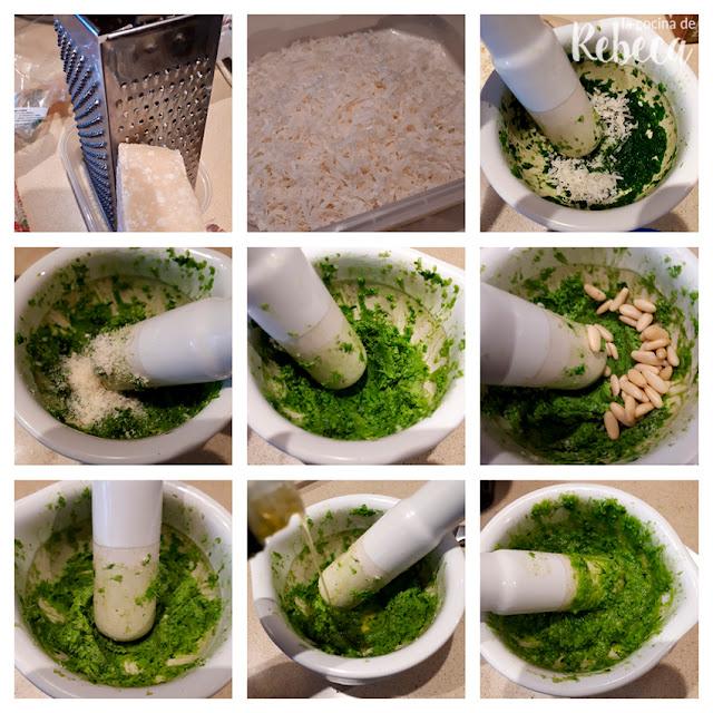 Receta de pasta al pesto: salsa de pesto verde 02