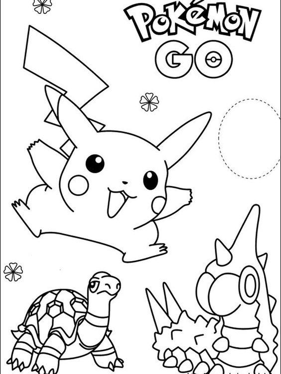 Tranh tô màu Pokemon 08