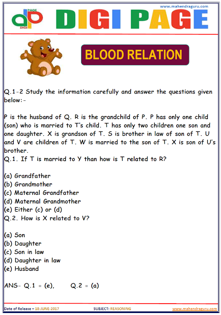 DP | BLOOD RELATION | 18 - JUNE - 17 |