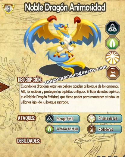 imagen de las caracteristicas del noble dragon animosidad