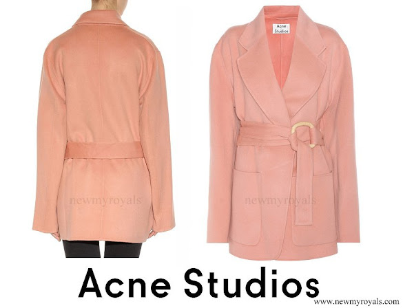 Crown-Princess Victoria wore ACNE STUDIOS Lilo wool and cashmere coat