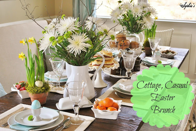 Easter Brunch and Spring Tablescape