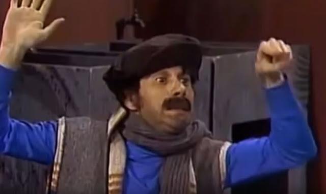 A segunda aparição do personagem na vila