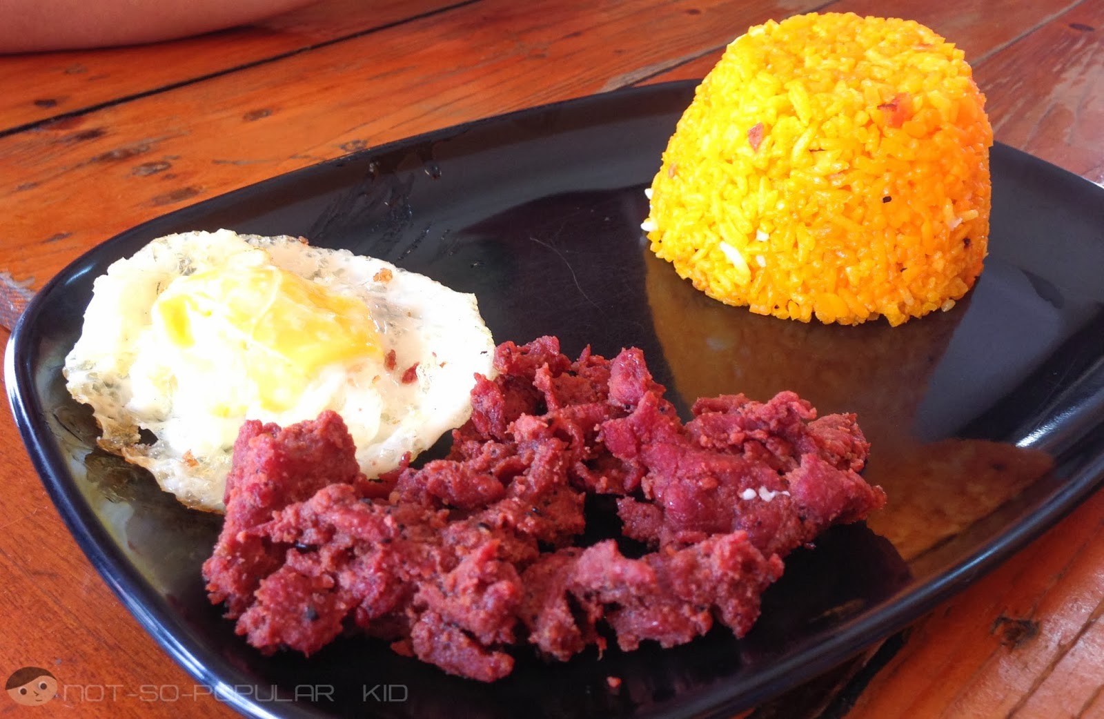 The tocino-looking beef tapa of Toto's Eatery