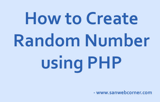 How to generate php random number