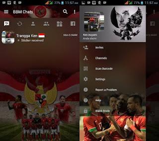 BBM MOD Tema Sepakbola v3.2.0.6 Apk Update 2017
