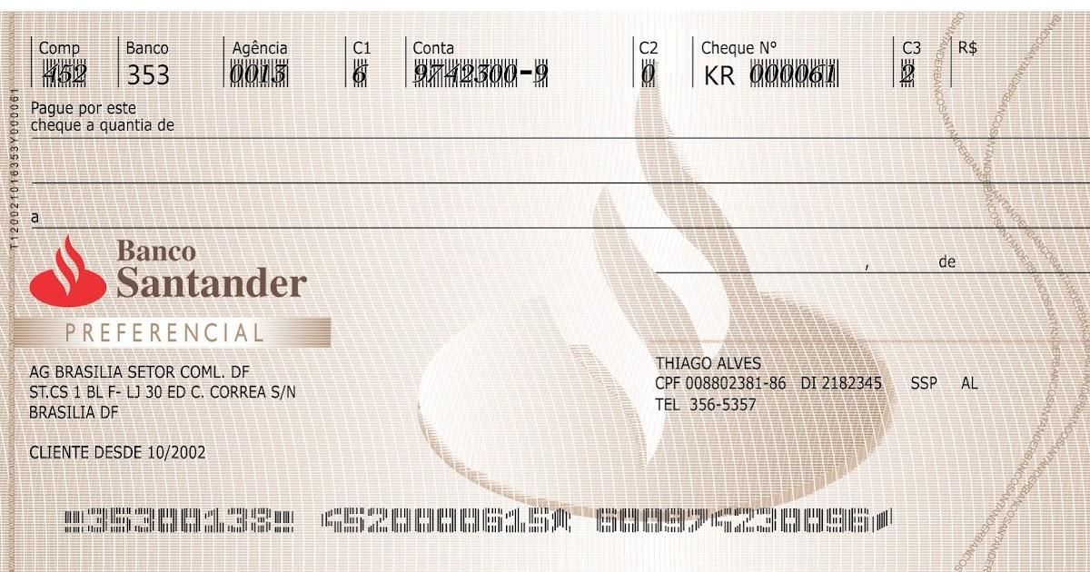 modelo de cheque feito no corel draw