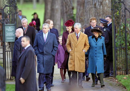 Família Real Britânica em Sandringham