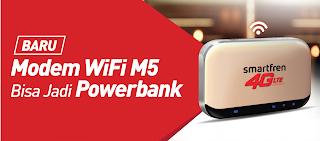 Modem Wifi M5 Bisa Jadi Powerbank