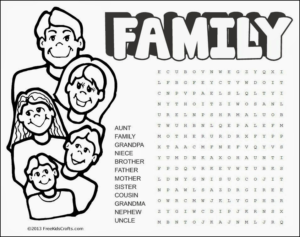 INGLÉS PARA NIÑOS: ACTIVITY: FAMILY
