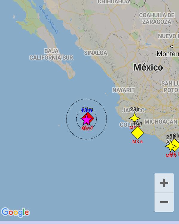 ULTIMA HORA: reportan sismo en las costas de jalisco Mexico.