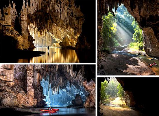 Cavernas mais lindas perigosas - Caverna Tham Lod - Tailândia