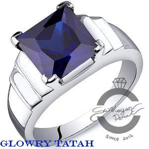 cincin akik batu biru