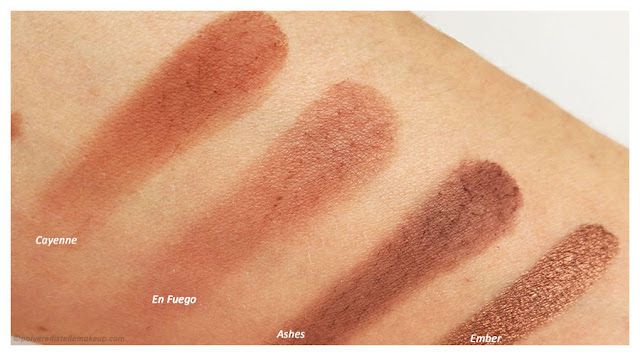Naked Heat Urban Decay Cayenne-En fuego-Ashes-Ember
