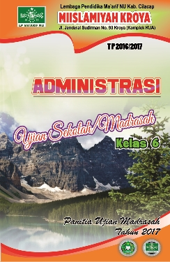 Cover Administrasi Ujian / Ulangan Sekolah / Madrasah cdr
