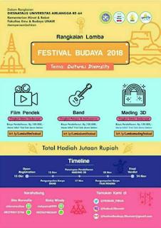 Festival Budaya 2018 di Universitas Airlangga