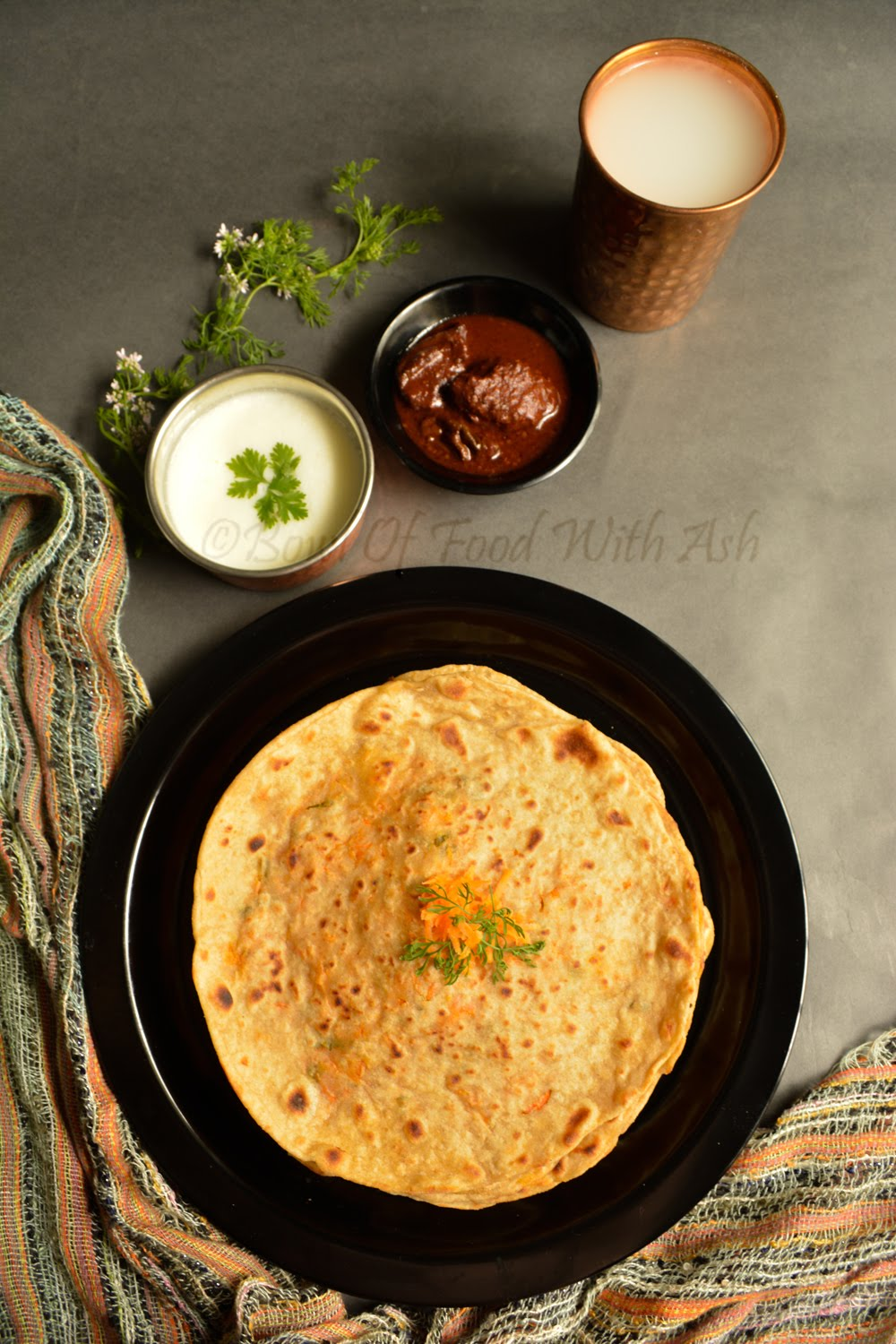 Quick Carrot Stuffed Paratha Recipe | How To Make Gajar Paratha