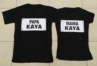 Jual Online Papa Mama Kaya Couple Murah Jakarta Bahan Combed Terbaru