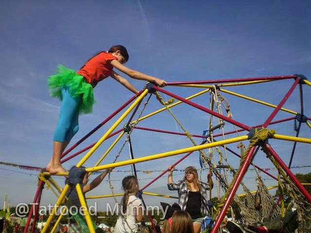 climbing frame at the over the moon festival