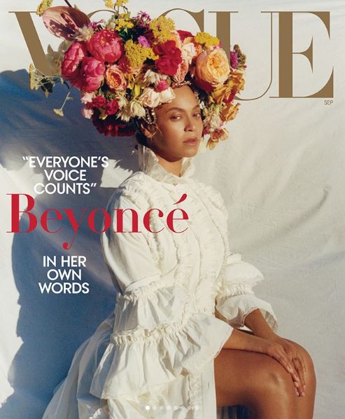 Beyonce covers Vogue Magazine's latest issue and makes history as the first black woman to cover the September issue twice