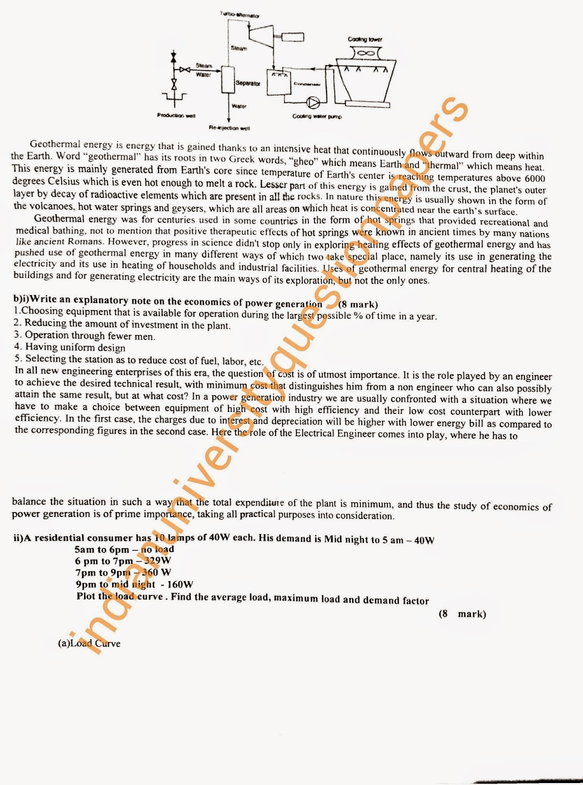 ME2403 Power Plant Engineering Anna University Answer Key