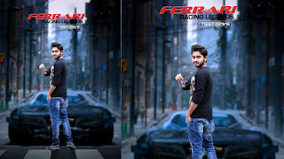Ferrari lover, boy with car background, photo manipulation ideas, car hd background, mmp picture