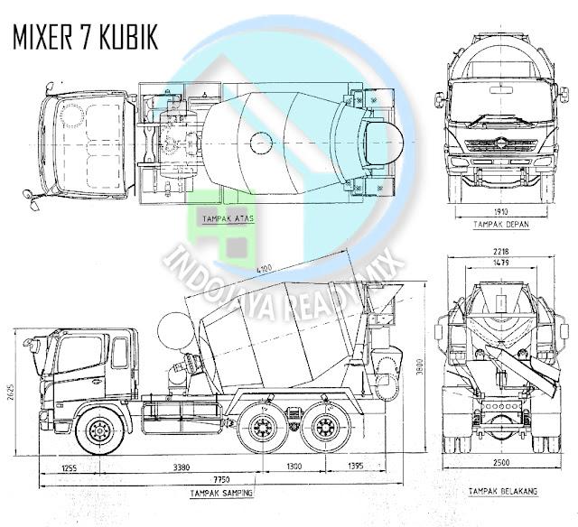 Truck Mixer Standar (Isi 7 Kubik)