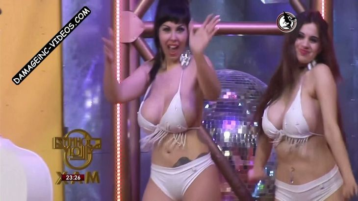 Evelyn Santichia and Tatiana Vazquez busty cleavages Damageinc Videos HD