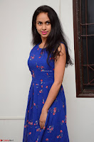 Pallavi Dora Actress in Sleeveless Blue Short dress at Prema Entha Madhuram Priyuraalu Antha Katinam teaser launch 059.jpg