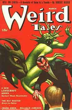 Portada de Weird tales marzo 1942, la revista pulp por excelencia.