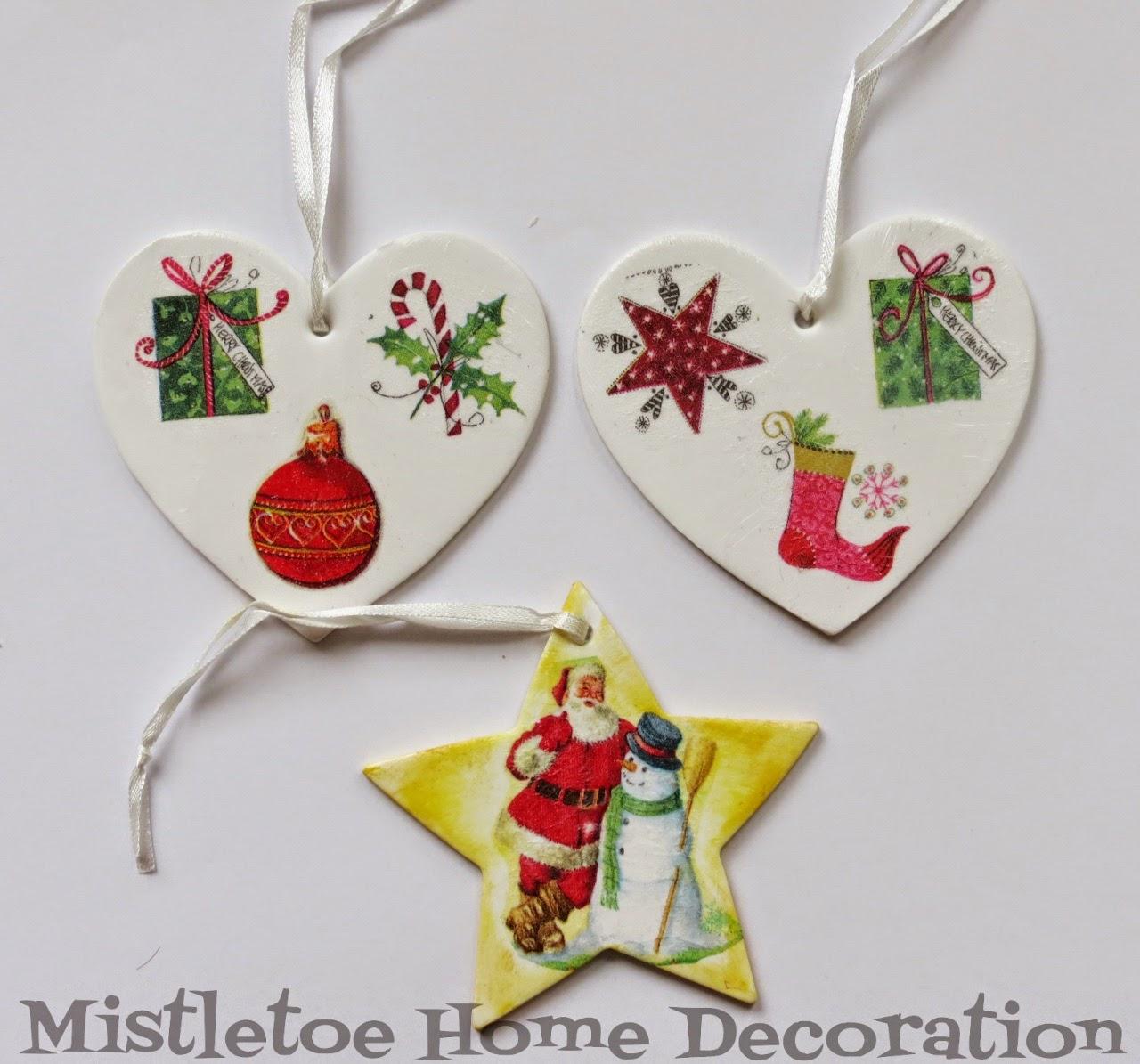 Mistletoe Home Designs: Christmas decoupage with napkins - coasters ...
