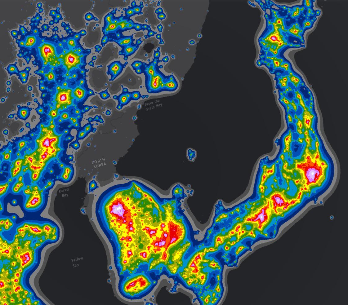 The New World Atlas of Artificial Sky Brightness - Vivid Maps