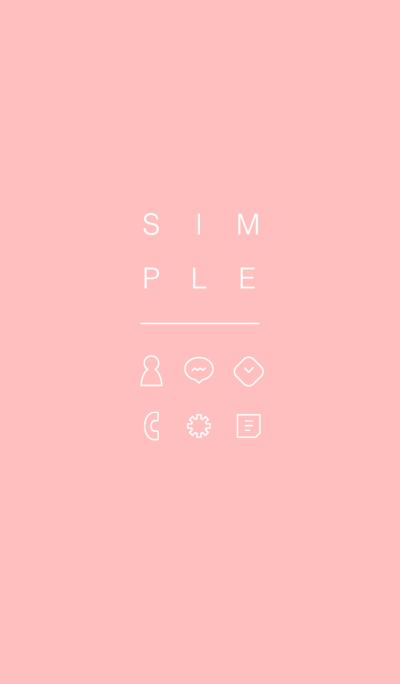 SIMPLE / salmon pink.