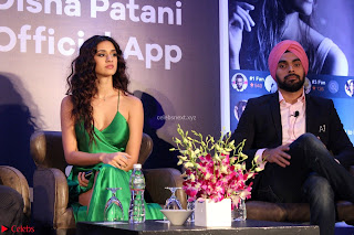 Disha Patani in Beautiful Green Gown at her App Launch 025.JPG