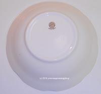 Serving bowl showing stamp