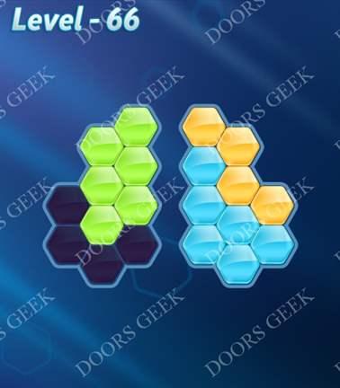 Block! Hexa Puzzle [Rainbow A] Level 66 Solution, Cheats, Walkthrough for android, iphone, ipad, ipod