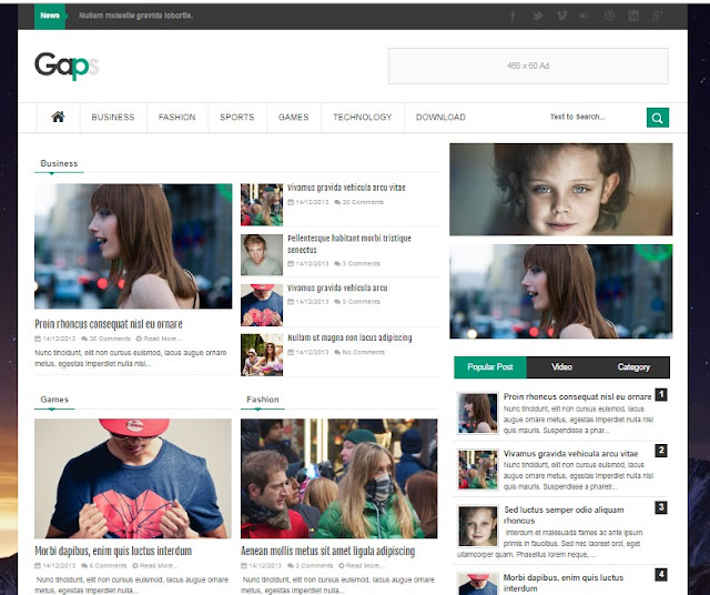 Responsive Free Blogger Template by Tectuner