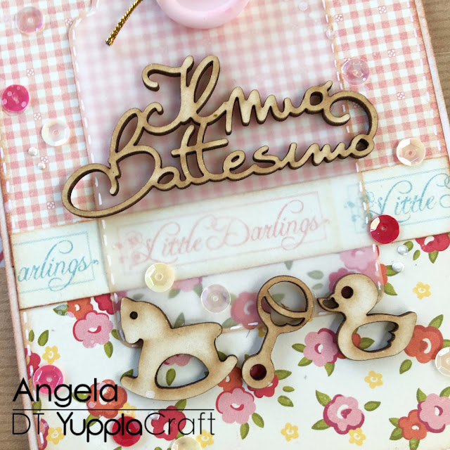 Card Battesimo by Angela Tombari per Yuppla Craft DT